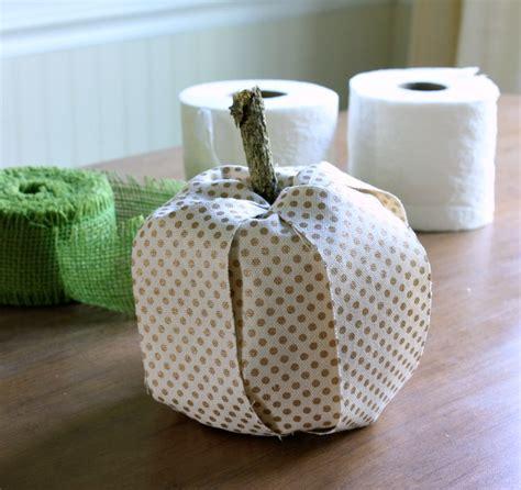 making pumpkins  toilet paper rolls  ribbon hometalk