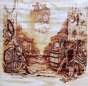 Riders In The Sky Pyrography by Danette Smith