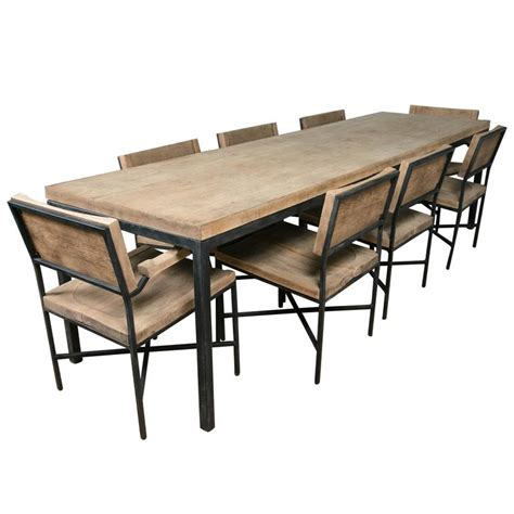 knoll dining table and eight chairs for sale at 1stdibs