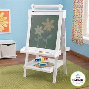 kidkraft 62040 kids deluxe wood easel art paint chalkboard