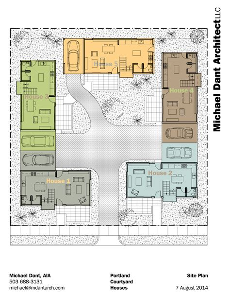 style home plans with courtyard portland courtyard community michael dant architect