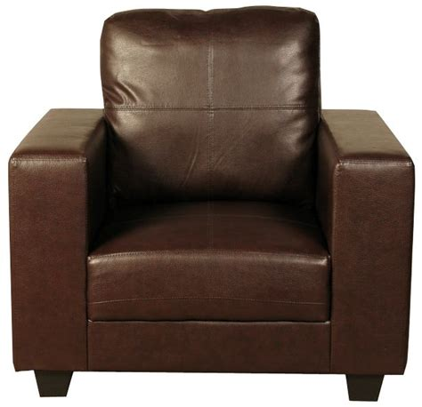 Buy Leather Armchair by Buy Queensbury Brown Faux Leather Armchair Cfs Uk