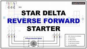 Star Delta Reverse Forward Power Wiring Diagram