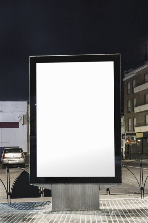 White Square Billboard blank white advertisement billboard  city street 626 x 939 · jpeg
