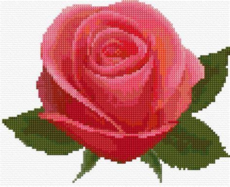 De 25+ Bedste Idéer Til Korssting Rose På Pinterest