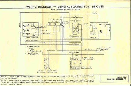 wiring diagram    general electric wall oven fixya
