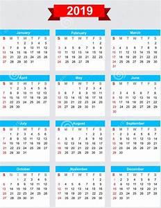 CALENDÁRIO 2019 → Datas【FERIADOS 2019】