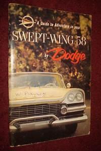 1958 Dodge Owner U0026 39 S Manual    Owner U0026 39 S Guide    Good Condition