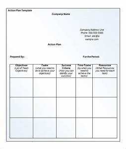 Appealing Example of Business Action Plan Template with ...