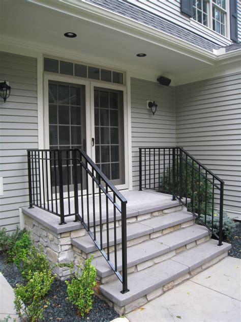 If you would like to become familiar with the caliber of work we do, feel free to look at the photos of the projects we have completed for previous customers. Exterior Step Railings - O'Brien Ornamental Iron