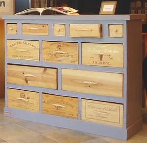 6 top idees deco pour vos caisses de vin blog deco With meuble avec caisse de vin