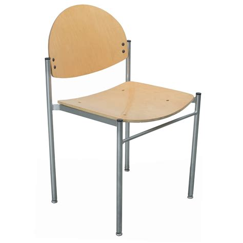 Grand Rapids Diana Used Wood Armless Stacking Chair, Maple
