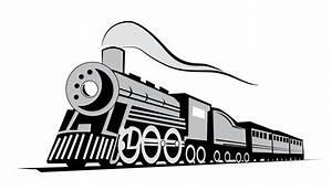 Classic locomotive train Free Vector / 4Vector