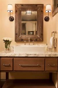 Innovative Rustic Mirrors Look Austin Rustic Bathroom