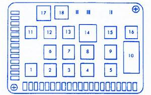 Porsche 965 1993 Main Engine Fuse Box  Block Circuit
