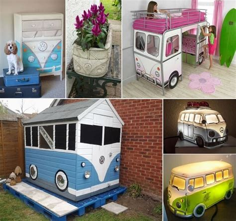 cool vw camper inspired home decor ideas