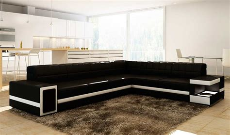 contemporary black leather sofa modern black leather sectional sofa vg106 leather sectionals