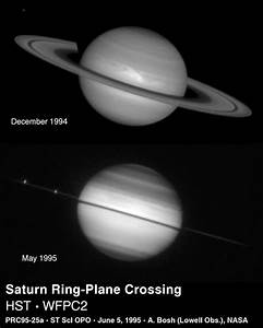 Space Images   Saturn's Rings Edge-on