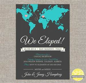 elope announcement and reception invitation hearts and With party city diy wedding invitations