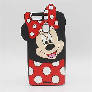 Capa Minnie Mouse Silicone Para Huawei P8    P8 Lite    P8