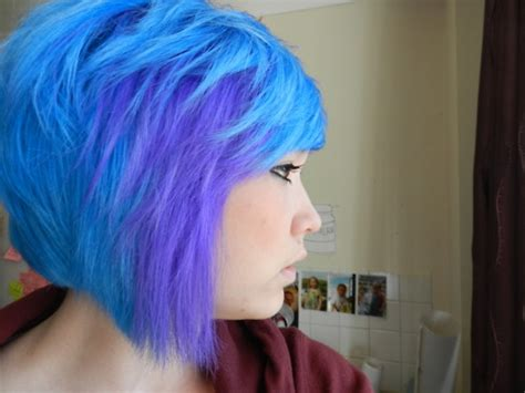 sky blue crazy hair pictures   images