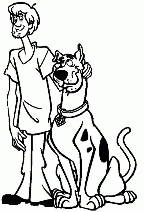 scooby doo  shaggy coloring pages coloring home