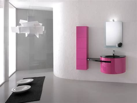 interior design ideas for bathrooms minimalist bahtroom vanity with pink storage and black