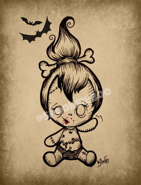 zombie tattoo tattoos frankenstein voodoo doll scary drawings drawing pebbles dolls zombies cute creepy baby flash cartoon etsy sketches gothic