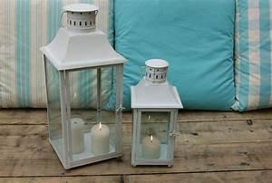 Grande Lanterne Deco : des lanternes en m tal version blanche d 39 un c t ou de l 39 autre ~ Teatrodelosmanantiales.com Idées de Décoration