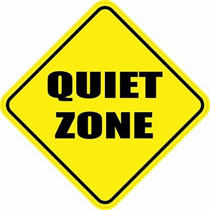 Zone Quiet Clipart Magnet 5in Clip Signs