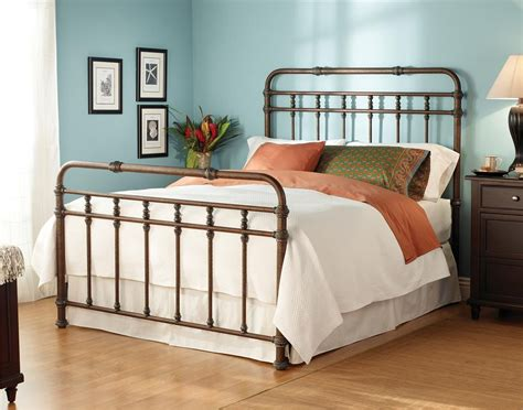Download Interior King Metal Bed Frame Headboard Footboard