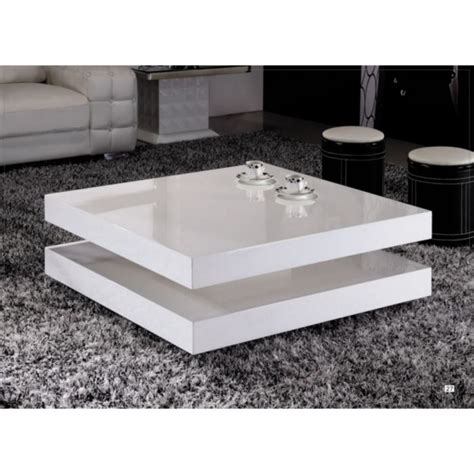 table basse blanche table basse laqu 233 e blanche epure achat vente table
