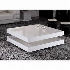 Table Basse Carrée Blanc Laqué : table basse laque blanc ~ Teatrodelosmanantiales.com Idées de Décoration