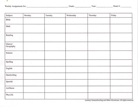 Weekly Assignment Sheet Sample Profile Essays Student Weekly