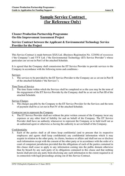 service agreement contract template examples  word google docs examples