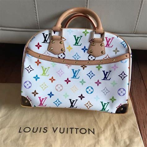 louis vuitton trouville white multicolor tote louis vuitton vuitton louis vuitton handbags