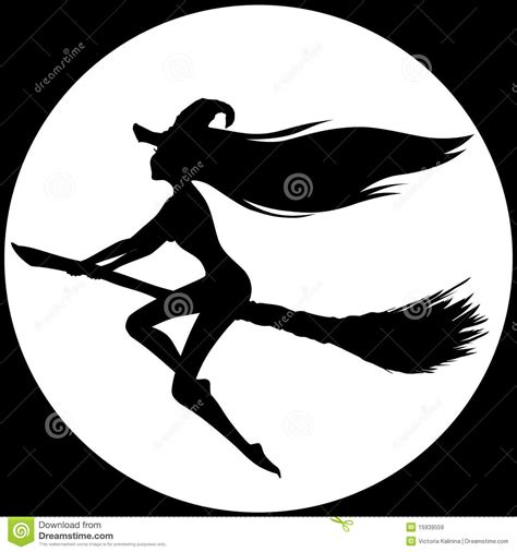 witch silhouette royalty  stock images image