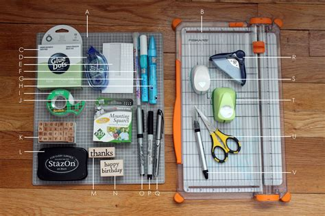 basic card making supplies  tools