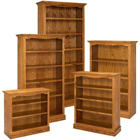 a e solid oak americana bookcase bookcases at hayneedle