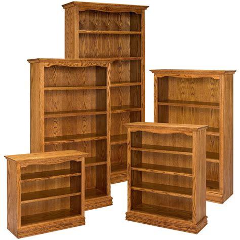 A & E Solid Oak Americana Wood Bookcase  Bookcases At
