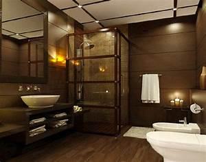 18 sophisticated brown bathroom ideas home design lover for Brown bathroom ideas