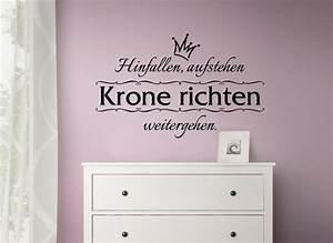 Spruch Krone Richten : wandtattoo hinfallen aufstehen krone richten weitergehen wand deko sticker w1195 ebay ~ Markanthonyermac.com Haus und Dekorationen
