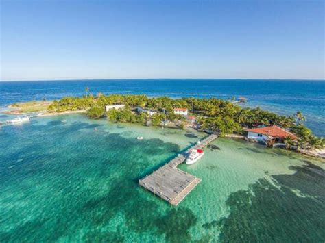 Hatchet Caye Private Island Resort In Belize From Above