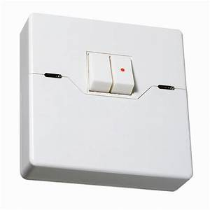 Programmable Security Light Switch 2 Gang White