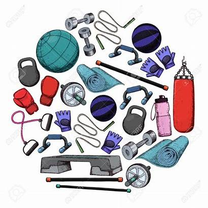 Fitness Gym Equipment Accessories Class Clip Vector