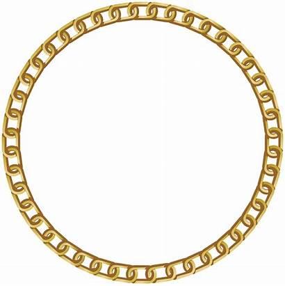 Frame Gold Transparent Round Clipart Clip Background