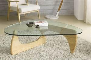Table Basse Verre Bois : table de salon en verre et bois massif contemporaine geneve ~ Teatrodelosmanantiales.com Idées de Décoration