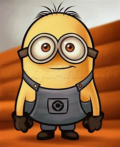Drawing a minion from despicable me, grus minions, Added ...