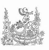 Patterns Embroidery Hand Belle Ladies Southern Designs Spice Ru Everything Nice Lady Transfers Listia Pattern для Crinoline Coloring вышивка Sunbonnet sketch template