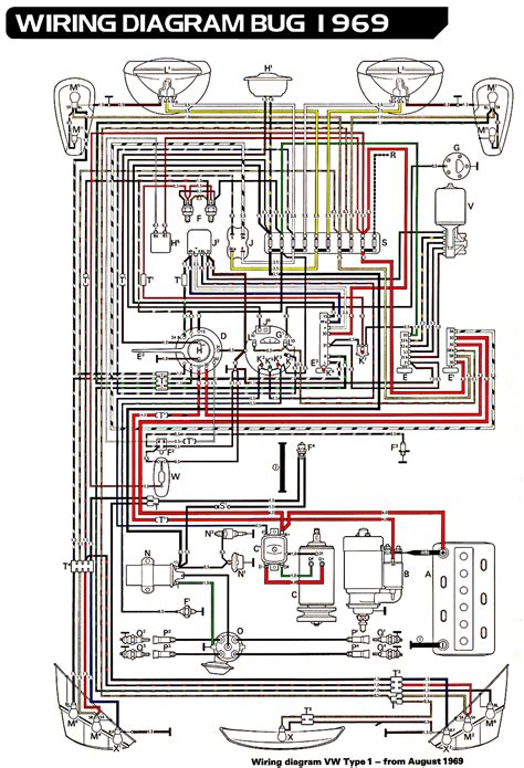 Volkswagen Wiring For 1969 by Electrical Equipment